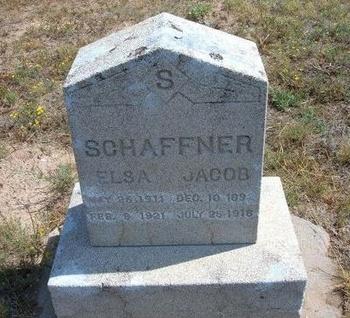 SCHAFFNER, JACOB - Baca County, Colorado | JACOB SCHAFFNER - Colorado Gravestone Photos