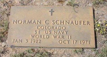 SCHNAUFER (VETERAN WWII), NORMAN CHARLES - Baca County, Colorado | NORMAN CHARLES SCHNAUFER (VETERAN WWII) - Colorado Gravestone Photos
