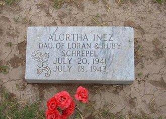 SCHREPEL, ALORTHA INEZ - Baca County, Colorado   ALORTHA INEZ SCHREPEL - Colorado Gravestone Photos