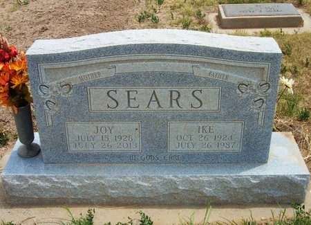 "SEARS, ESTHER JOY ""JOY"" - Baca County, Colorado 