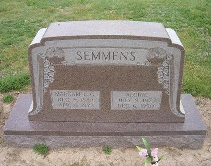 SEMMENS, ARCHIE - Baca County, Colorado | ARCHIE SEMMENS - Colorado Gravestone Photos