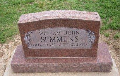 SEMMENS, WILLIAM JOHN - Baca County, Colorado | WILLIAM JOHN SEMMENS - Colorado Gravestone Photos