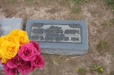 SHARPE, JESSIE HERIFORD - Baca County, Colorado | JESSIE HERIFORD SHARPE - Colorado Gravestone Photos