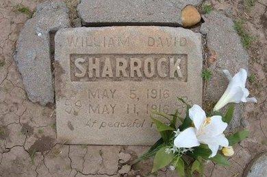 SHARROCK, WILLIAM DAVID - Baca County, Colorado | WILLIAM DAVID SHARROCK - Colorado Gravestone Photos