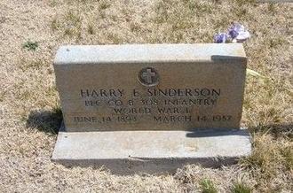 SINDERSON (VETERAN WWI), HARRY E - Baca County, Colorado | HARRY E SINDERSON (VETERAN WWI) - Colorado Gravestone Photos