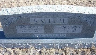 SMITH, FRANCIS MILO - Baca County, Colorado | FRANCIS MILO SMITH - Colorado Gravestone Photos