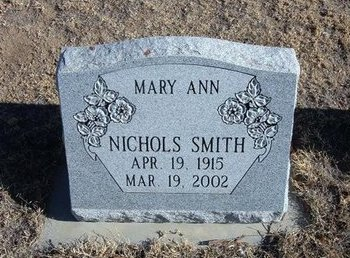 SMITH, MARY ANN - Baca County, Colorado | MARY ANN SMITH - Colorado Gravestone Photos