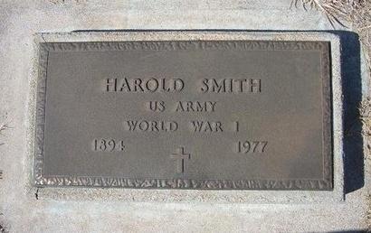 SMITH (VETERAN WWI), HAROLD - Baca County, Colorado | HAROLD SMITH (VETERAN WWI) - Colorado Gravestone Photos