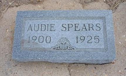 GIPSON SPEARS, AUDIE GERTRUDE - Baca County, Colorado | AUDIE GERTRUDE GIPSON SPEARS - Colorado Gravestone Photos