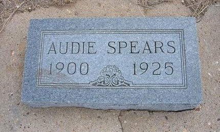 SPEARS, AUDIE GERTRUDE - Baca County, Colorado | AUDIE GERTRUDE SPEARS - Colorado Gravestone Photos