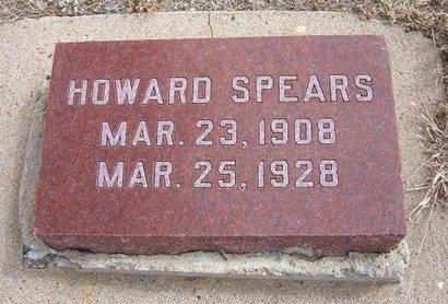 SPEARS, HOWARD - Baca County, Colorado   HOWARD SPEARS - Colorado Gravestone Photos