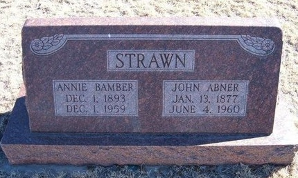 BAMBER STRAWN, ANNIE - Baca County, Colorado | ANNIE BAMBER STRAWN - Colorado Gravestone Photos