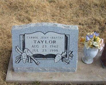 BANTA TAYLOR, CARROL JEAN - Baca County, Colorado | CARROL JEAN BANTA TAYLOR - Colorado Gravestone Photos