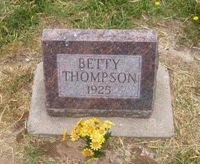 THOMPSON, BETTY - Baca County, Colorado | BETTY THOMPSON - Colorado Gravestone Photos