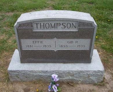 THOMPSON, EFFIE - Baca County, Colorado | EFFIE THOMPSON - Colorado Gravestone Photos
