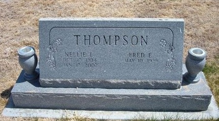 THOMPSON, NELLIE L - Baca County, Colorado | NELLIE L THOMPSON - Colorado Gravestone Photos