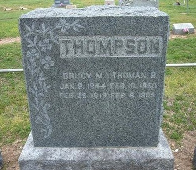 THOMPSON, DRUCY M - Baca County, Colorado | DRUCY M THOMPSON - Colorado Gravestone Photos