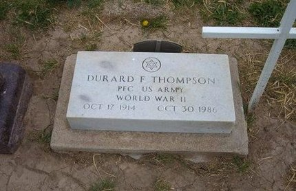 THOMPSON (VETERAN WWII), DURARD F - Baca County, Colorado   DURARD F THOMPSON (VETERAN WWII) - Colorado Gravestone Photos