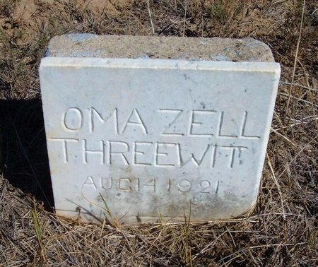 THREEWIT, OMA ZELL - Baca County, Colorado | OMA ZELL THREEWIT - Colorado Gravestone Photos