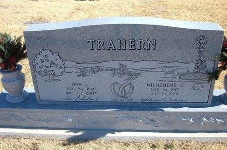 TRAHERN, WILHEMENE C - Baca County, Colorado   WILHEMENE C TRAHERN - Colorado Gravestone Photos