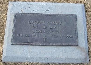 UTT (VETERAN WWII), DARREL O - Baca County, Colorado   DARREL O UTT (VETERAN WWII) - Colorado Gravestone Photos