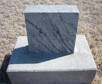 VAUGHN, INA FRANCES - Baca County, Colorado | INA FRANCES VAUGHN - Colorado Gravestone Photos