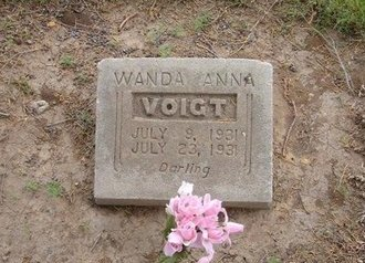 VOIGHT, WANDA ANNA - Baca County, Colorado | WANDA ANNA VOIGHT - Colorado Gravestone Photos