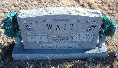 WAIT, CHARLES ELDON - Baca County, Colorado   CHARLES ELDON WAIT - Colorado Gravestone Photos