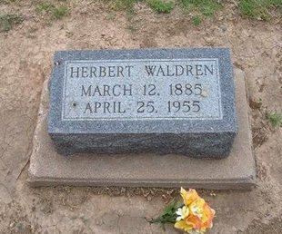 WALDREN, HERBERT - Baca County, Colorado | HERBERT WALDREN - Colorado Gravestone Photos