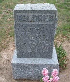 STRAWSER WALDREN, JESSIE - Baca County, Colorado | JESSIE STRAWSER WALDREN - Colorado Gravestone Photos