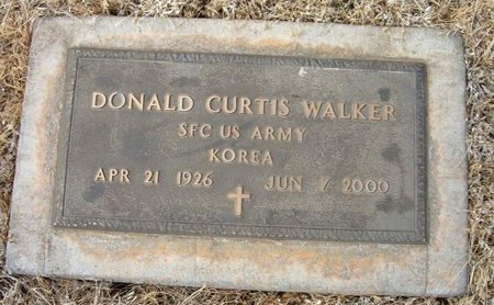 WALKER (VETERAN KOR), DONALD CURTIS - Baca County, Colorado | DONALD CURTIS WALKER (VETERAN KOR) - Colorado Gravestone Photos