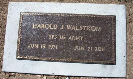 WALSTROM (VETERAN), HAROLD JULIUS - Baca County, Colorado | HAROLD JULIUS WALSTROM (VETERAN) - Colorado Gravestone Photos