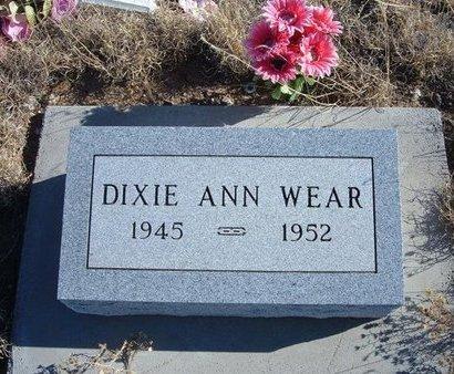 WEAR, DIXIE ANN - Baca County, Colorado   DIXIE ANN WEAR - Colorado Gravestone Photos