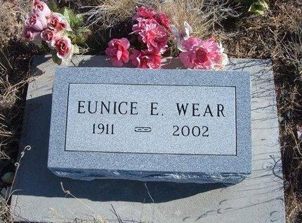 WEAR, EUNICE E - Baca County, Colorado | EUNICE E WEAR - Colorado Gravestone Photos