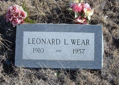 WEAR, LEONARD L - Baca County, Colorado | LEONARD L WEAR - Colorado Gravestone Photos