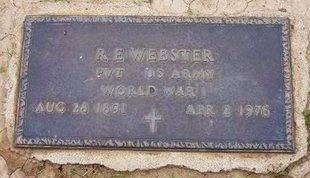 WEBSTER (VETERAN WWI), RINALDO EPPLER - Baca County, Colorado | RINALDO EPPLER WEBSTER (VETERAN WWI) - Colorado Gravestone Photos
