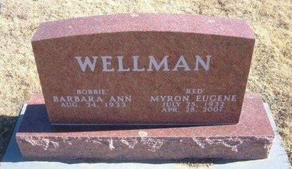 "WELLMAN, MYRON EUGENE ""RED"" - Baca County, Colorado   MYRON EUGENE ""RED"" WELLMAN - Colorado Gravestone Photos"