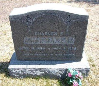 WHEELER, CHARLES F - Baca County, Colorado | CHARLES F WHEELER - Colorado Gravestone Photos