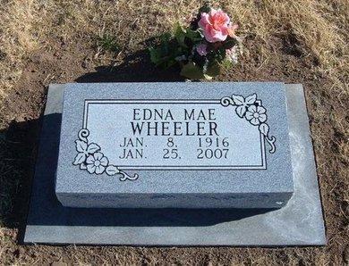 WHEELER, EDNA MAE - Baca County, Colorado | EDNA MAE WHEELER - Colorado Gravestone Photos