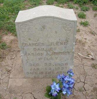 WILEY, FRANCES ILENE - Baca County, Colorado   FRANCES ILENE WILEY - Colorado Gravestone Photos
