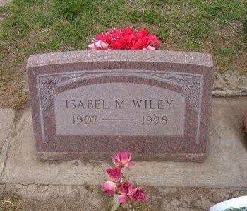 WILEY, ISABEL M - Baca County, Colorado | ISABEL M WILEY - Colorado Gravestone Photos