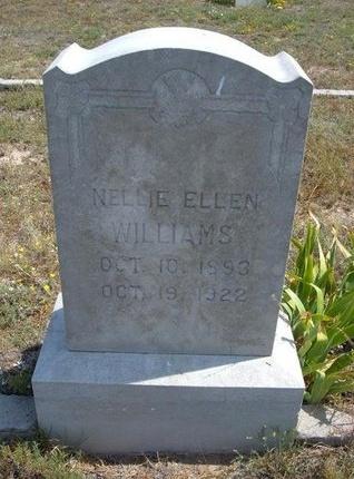 WILLIAMS, NELLIE ELLEN - Baca County, Colorado | NELLIE ELLEN WILLIAMS - Colorado Gravestone Photos