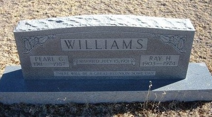 WILLIAMS, RAY H - Baca County, Colorado | RAY H WILLIAMS - Colorado Gravestone Photos