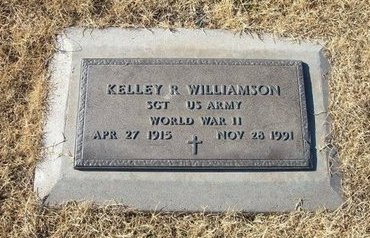 WILLIAMSON (VETERAN WWII), KELLEY R - Baca County, Colorado | KELLEY R WILLIAMSON (VETERAN WWII) - Colorado Gravestone Photos