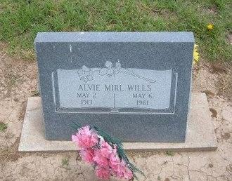 WILLS, ALVIE MIRL - Baca County, Colorado | ALVIE MIRL WILLS - Colorado Gravestone Photos
