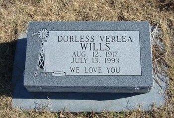 WILLS, DORLESS VERLEA - Baca County, Colorado   DORLESS VERLEA WILLS - Colorado Gravestone Photos