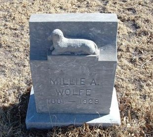 WOLFE, MILLIE A - Baca County, Colorado | MILLIE A WOLFE - Colorado Gravestone Photos