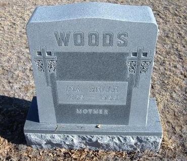 WOODS, IDA BELLE - Baca County, Colorado | IDA BELLE WOODS - Colorado Gravestone Photos