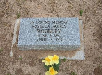 WOOLLEY, ROSELLA AGNES - Baca County, Colorado | ROSELLA AGNES WOOLLEY - Colorado Gravestone Photos