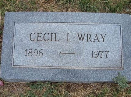 WRAY, CECIL I - Baca County, Colorado | CECIL I WRAY - Colorado Gravestone Photos
